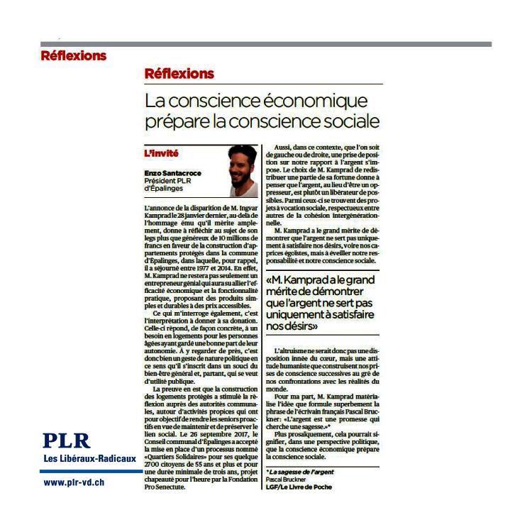 La conscience économique prépare la conscience sociale